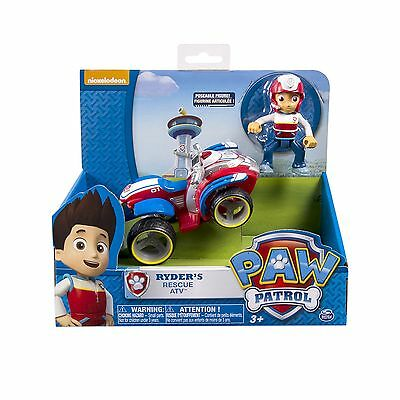 Paw Patrol Nickelodeon -Ryder's Rescue ATV Vechicle and Figure