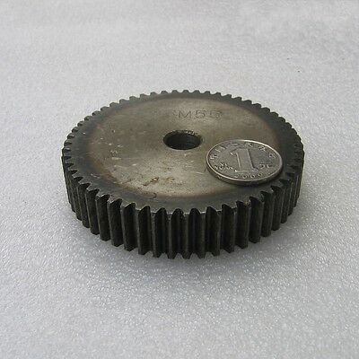 Motor Spur Gear 2.5Mod 55Tooth 45# Steel Outer Dia 142.5mm Thickness 25mm x 1Pcs
