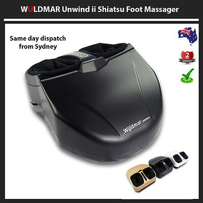 3D Deluxe Shiatsu Air Pressure Heated Foot Massager Heating Acupuncture Health