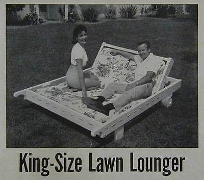 King Size CHAISE LOUNGE CHAIR How-To build PLANS 2 seat