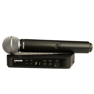 Shure BLX24SM58 Wireless Microphone System Professional Wireless Microphone
