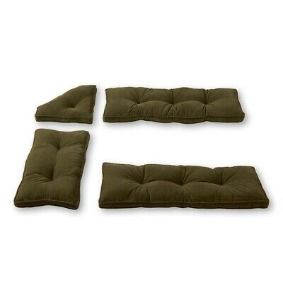 NEW Breakfast Bar Nook Dining Set Corner Bench Booth 4 Pc Cushion Set Sage Green