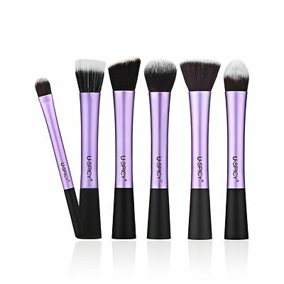USpicy Make Up Brushes 6-Piece Professional Cosmetics Makeup Brush Set with Gift