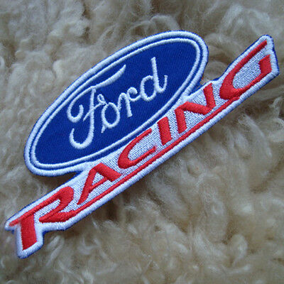 """4.5""""x1p. ford racing motor sports embroidered iron on or sew on patch badge"""