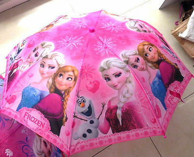 New Girl's Disney Frozen Elsa Anna Cartoon Child Floding Kids Umbrella