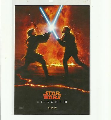 ORIGINAL MAY 19TH 2005 STAR WARS Theatre Flyer REVENGE OF THE SITH EPISODE III .