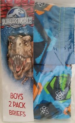 JURASSIC WORLD dino 2x Licensed boy briefs undies jocks underwear NEW sizes 2-6