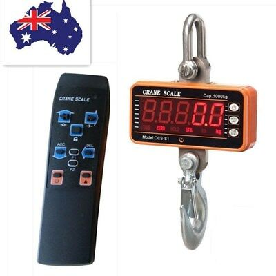 Digital Crane Scale Portable LCD Electronic Hook Weight Industrial Hanging Scale