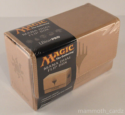 Ultra Pro Magic The Gathering Mana Dual Flip Box White Brand New