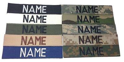 Custom Name Tape, ACU Multicam OCP Black ABU OD Green Desert Tan Military