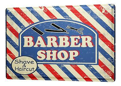 Blechschild Retro Barber Shop