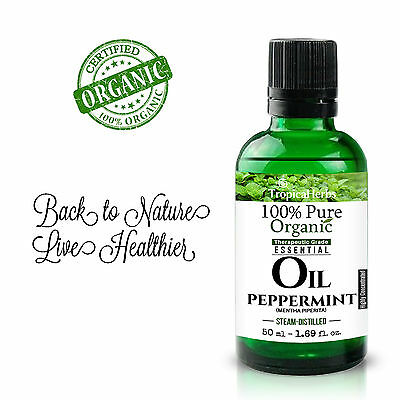 PURE ESSENTIAL OIL PEPPERMINT 100% NATURAL CERTIFIED ORGANIC Therapeutic Grade