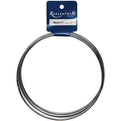 "Zinc Metal Rings-5"" 4/Pkg, Pk 6, Realeather Crafts"
