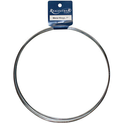 "Zinc Metal Rings-7"" 3/Pkg, Pk 6, Realeather Crafts"