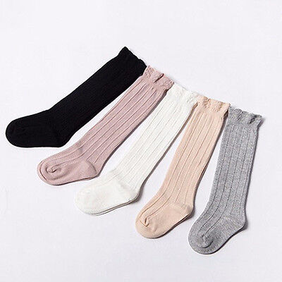 Newborn Baby Toddler Knee High Lace long Sock Boys Girls Leg Warmers Socks DA