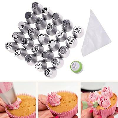 46pc Quality Russian Tulip Icing Piping Nozzle Set Cake Cupcake Decoration Tips