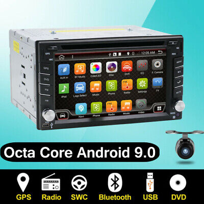 Free Camera+Double DIN Car Stereo DVD Player Radio GPS SAT NAV 3G WIFI Bluetooth