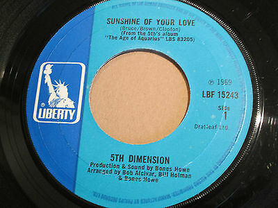 "5th DIMENSION Sunshine of your love FUNK Breaks Great Version! 7"" HEAR Liberty"
