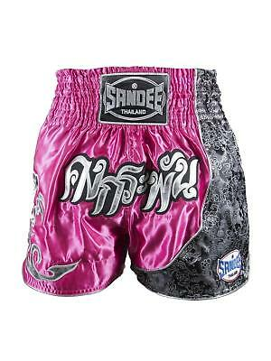 Sandee Unbreakable Pink/White/Black Muay Thai Boxing Shorts