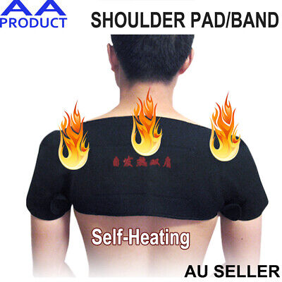 Self Heating Large Double Shoulder Support Wrap Pain Relief Magnetic Brace Belt