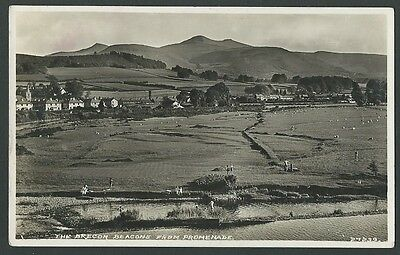 Brecon Beacons Powys From Promenade c1940s Real Photo Postcard