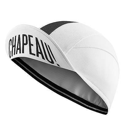Chapeau! Classic Retro Cotton Cycling Cap (White/Black)