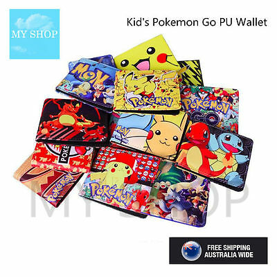 Pokemon Go Faux Leather Bifold Slim Wallet -Pikachu, Blastoise vs Charizard Sery