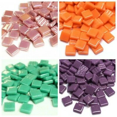 12mm Square Mosaic Tiles in a  Choice of Colours - 50g