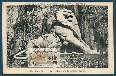 France - Carte Maximum - N°167 Orphelins - Lion De Belfort - Ttbe