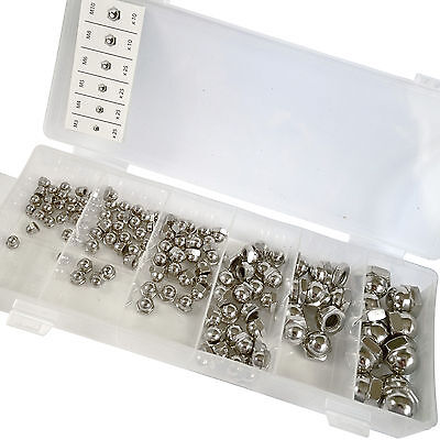 Dome Nut Set. 120 Assorted Metric Dome Nuts M3 M4 M5 M6 M8 M10