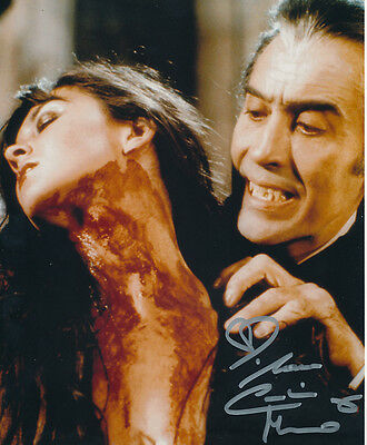 Caroline Munro Signed Photo with Christopher Lee - A1099 - Dracula A.D. 1972
