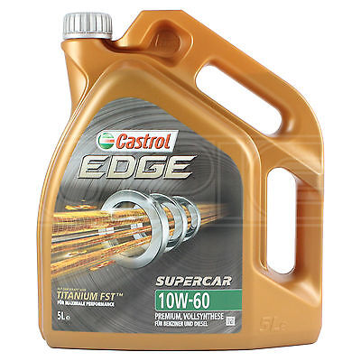 Castrol Edge SUPERCAR 10w-60 Titanium FST Full Synthetic Engine Oil 5 Litres 5L