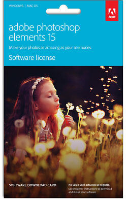 NEW Adobe - Photoshop Elements 15 - Commercial Edition from Bing Lee