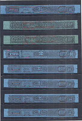 1926 US Tax Paid Revenue Tobacco Strips Collection Lot of 8 - Used*