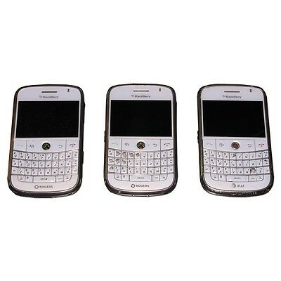 Blackberry 9000 Smartphone for Parts or Repair Only SOLD AS-IS White LOT OF 3