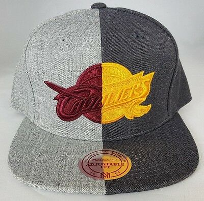 Cleveland Cavaliers Split Heather Snapback by Mitchell & Ness