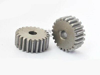Motor Spur Pinion Gear 2.5Mod 24T 45# Steel Outer Dia 65mm Thickness 25mm x 1Pcs
