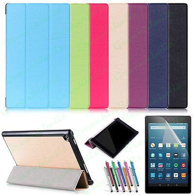 Amazon Kindle Fire HD 8 2018/ 2017 Sleep/Wake Ultra Slim Trifold PU Leather Case