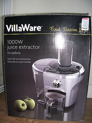 villaware 1000W powerful whole fruit juice extractor stainless steel