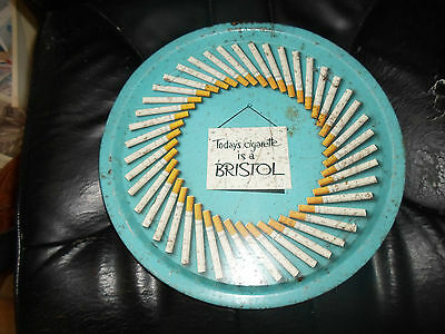 "Rare Vintage Beer Tray Advertising ""Today's Cigarette is a BRISTOL"" USED"