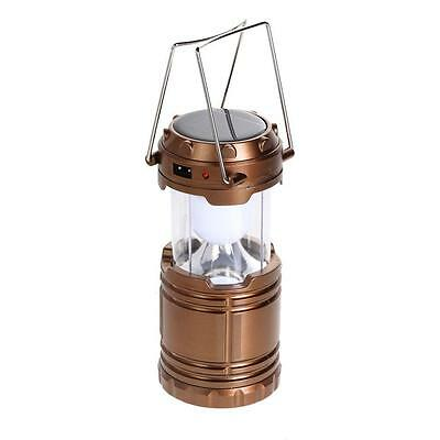 Solar Power 6 LED Lantern Outdoor Super Bright Rechargeable Camping Light Lamp