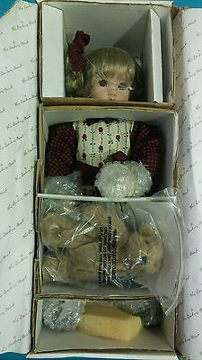 "NRFB The Danbury Mint Cindy Marschner Rolfe ""Penny"" Porcelain Doll 16"" Tall"