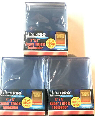180 PT ULTRA PRO 10 PACK FACTORY SEALED 3x4 INCH SPORTS CARDS TOP LOADERS