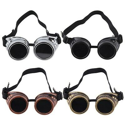 New Cyber Goggles Steampunk Glasses Vintage Welding Punk Gothic Victorian QP