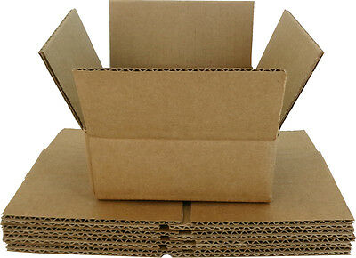 (5) CDBC05 5 CD Boxes Mailers Storage Brown Cardboard Shipping Collection Store