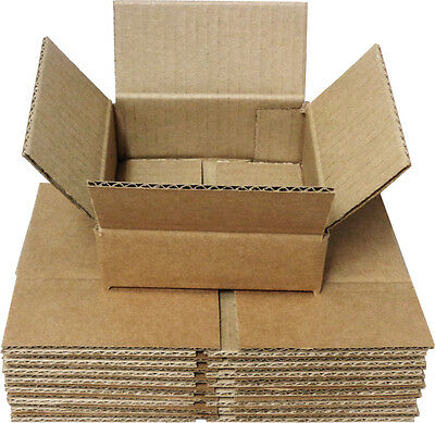 (10) CDBC05 5 CD Boxes Mailers Storage Brown Cardboard Shipping Collection Store