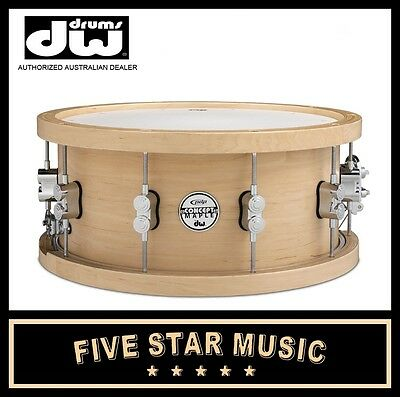DW PDP CONCEPT SERIES SNARE MAPLE WOOD HOOP 6.5x14 20PLY PDSN6514NAWH NEW