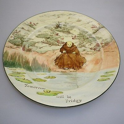 "RARE Royal Doulton Series Ware "" MONKS AND MOTTOS A "" Pattern""  RACK Plate"