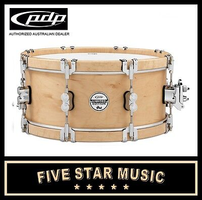"""DW PDP CLASSIC WOOD HOOP SNARE 7x14"""" 14"""" LIMITED EDITION PDSX0714CLWH NEW"""