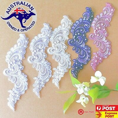 High quality beaded lace motif for craft & invitation.